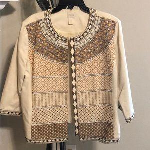 🐆Chico's handmade rhinestone blazer